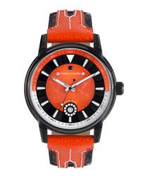 Nereus black & orange diamond watch