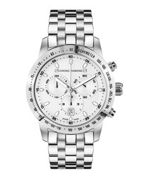 Theseus silver-tone diamond watch