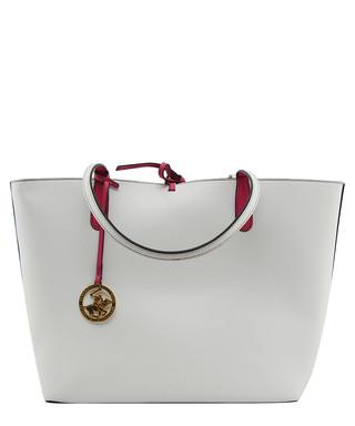 411884415f4c 2pc white shopper   fuchsia insert set Sale - Beverly Hills Polo Club Sale