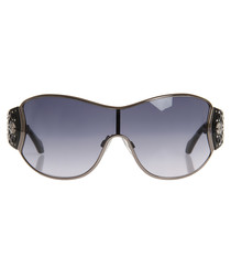 Black & grey lens visor sunglasses