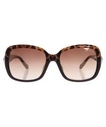 Brown leopard print sunglasses