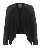 Lupus black leather waterfall jacket