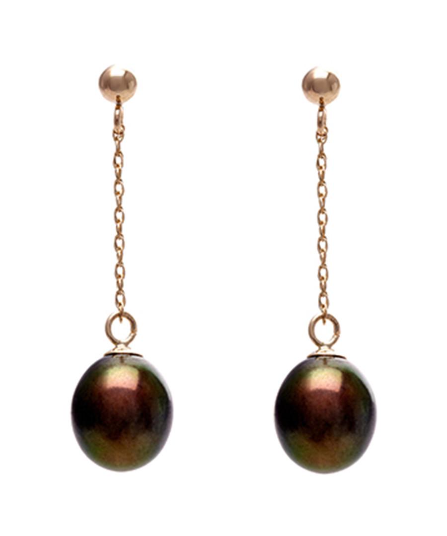 0.7cm black pearl & 9ct gold earrings Sale - Windsor Pearl