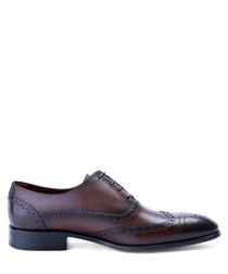 Dark brown leather Oxfords