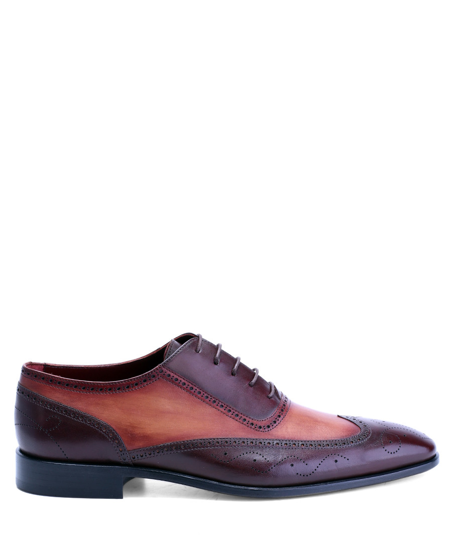 Brown & red leather contrast brogues Sale - deckard
