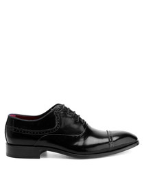 Black leather detail oxfords