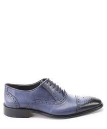 Blue leather dual tone Oxfords