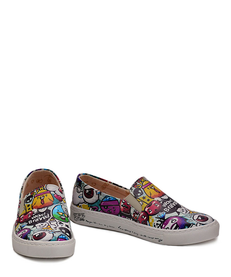 Multi-coloured slip-on sneakers Sale - Goby
