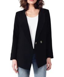 Black 2-button blazer jacket