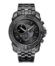 Black stainless steel bracelet watch