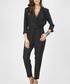 black waist-tie wrap jumpsuit Sale - grazia Sale