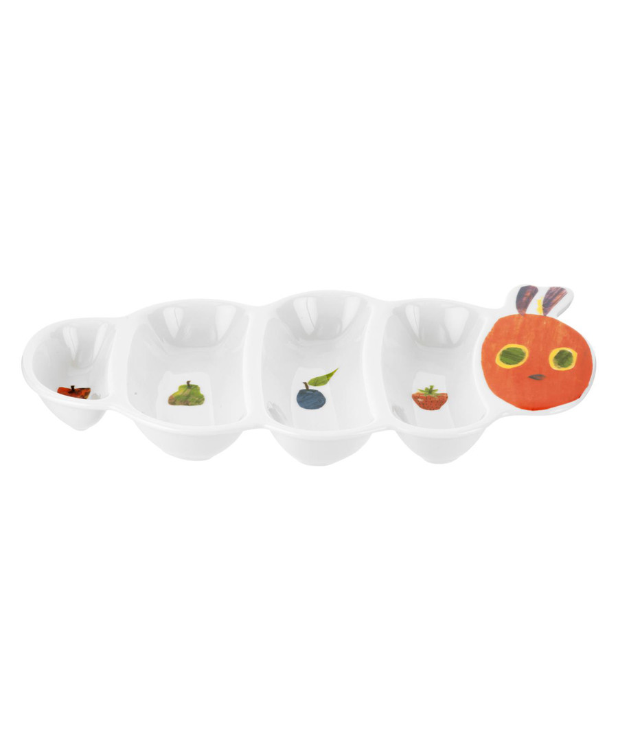 Hungry Caterpillar white porcelain plate Sale - Portmeirion The Very Hungry Caterpillar