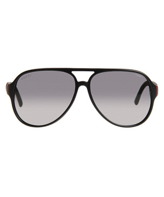 85e7ec2ffd62 Black   grey polarised lens sunglasses Sale - Gucci Sale