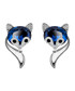 18ct white gold-plated fox studs Sale - caromay Sale