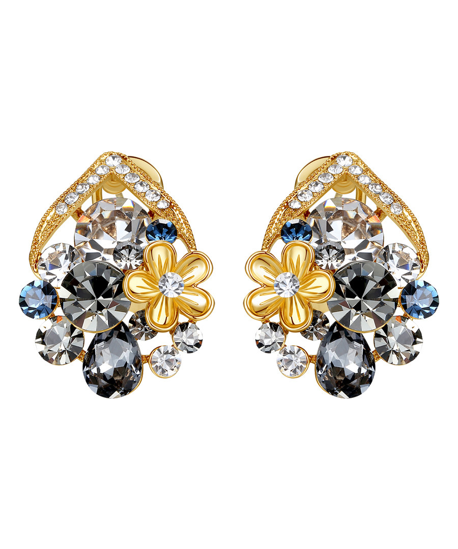 Gold-tone & crystal cluster studs Sale - caromay