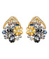 Gold-tone & crystal cluster studs Sale - caromay Sale