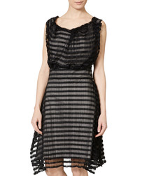 Heathcote black stripe dress