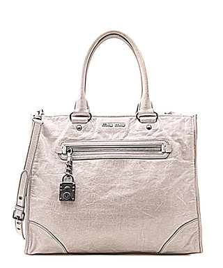 1e7352ea5c2 Grey leather padlock grab bag Sale - Vintage Miu Miu Sale