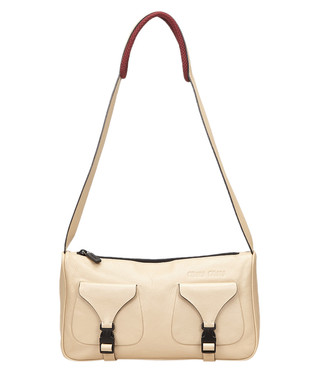 e97d297a423 Beige leather buckle shoulder bag Sale - Vintage Miu Miu Sale
