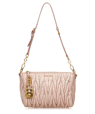 944a27aff36 Pink leather quilted shoulder bag Sale - Vintage Miu Miu Sale