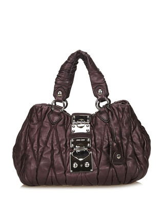bdf5a362c4e Coffer purple leather grab bag Sale - Vintage Miu Miu Sale