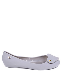 Amy grey heart flats