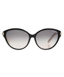 Priscilla black & ivory sunglasses