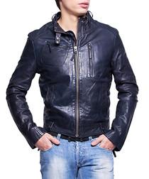 Men's Freddy marine leather jacket