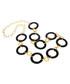 18ct gold-plated black onyx necklace Sale - liv oliver Sale