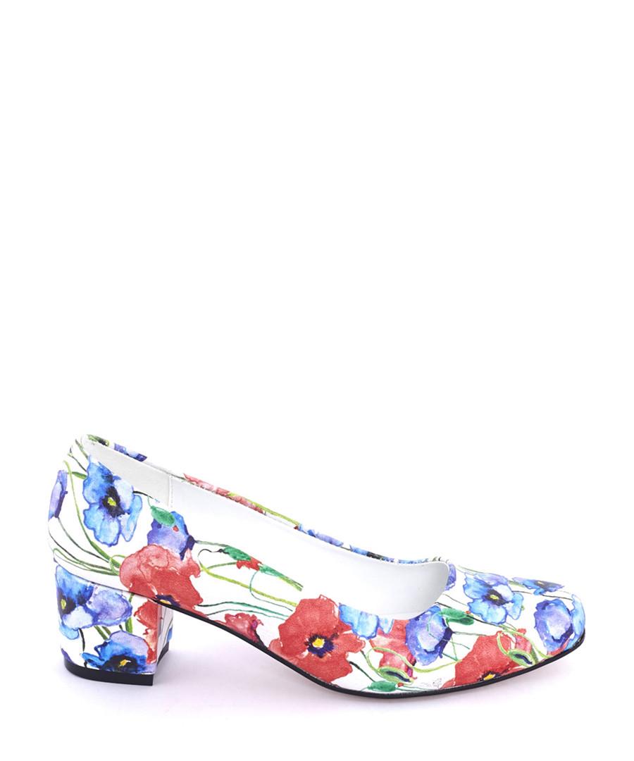 Multi-coloured watercolour block heels Sale - STREETFLY