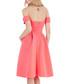 Coral off-the-shoulder dress Sale - goddiva Sale