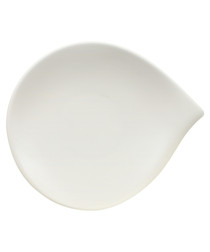 Flow white porcelain side plate
