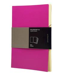 3pc Folio pink & cream file folders 30cm