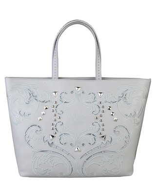 302c0407e7 Versace Jeans. White embroidered stud tote bag
