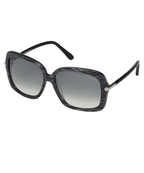 Paloma black square sunglasses