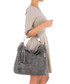 Grey leather snake-effect shoulder bag Sale - anna morellini Sale