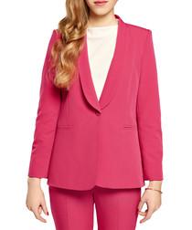 Fuchsia shawl collar jacket