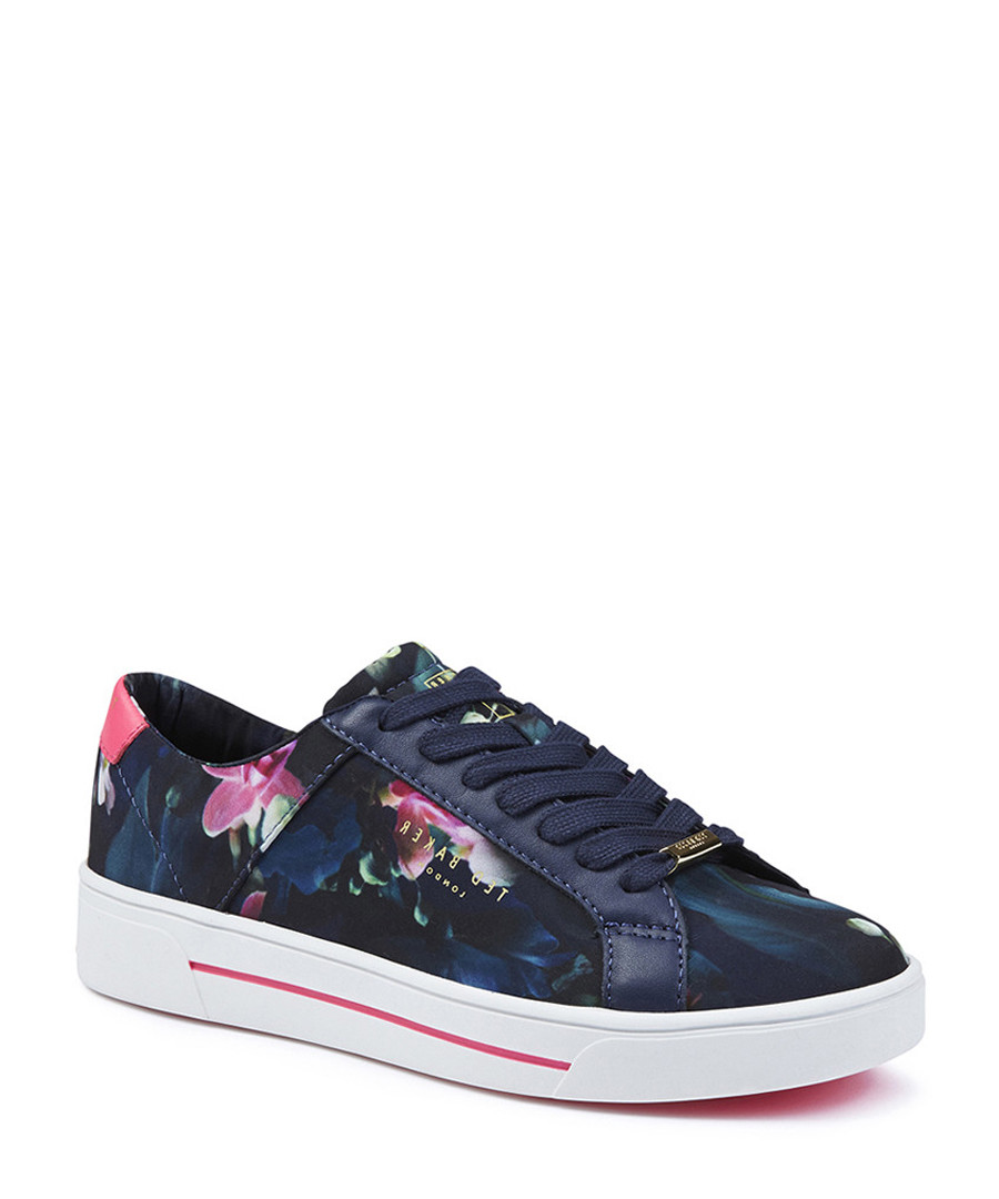 Women's Eyewo blue floral sneakers Sale - TED BAKER