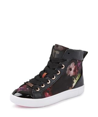 c6289a2e7 Magdaelaine black floral sneakers Sale - Ted Baker Sale