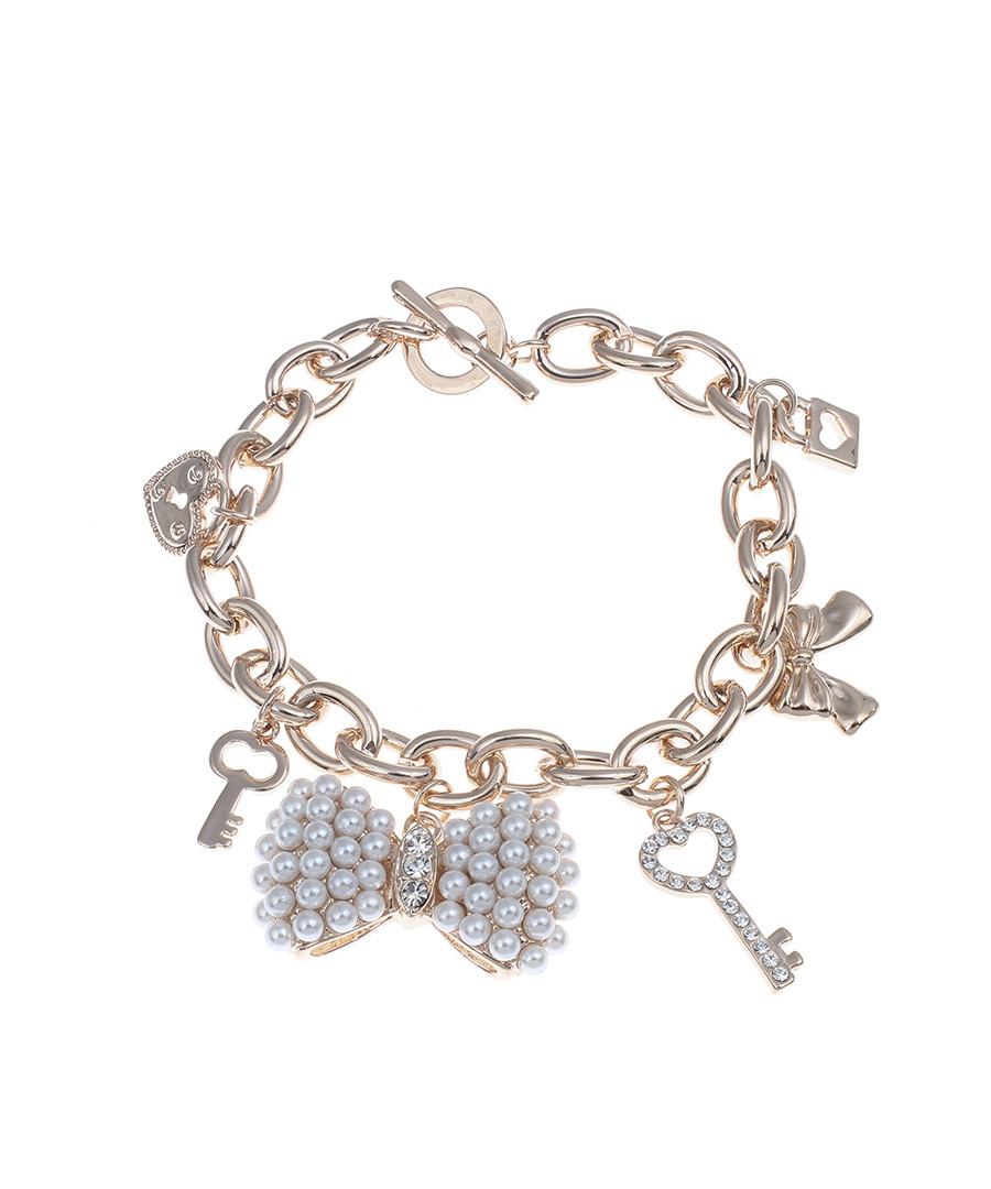 18k rose gold-plated charm bracelet Sale - liv oliver