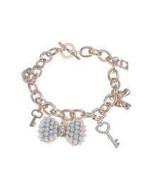 18k rose gold-plated charm bracelet
