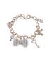 18k rose gold-plated charm bracelet Sale - liv oliver Sale