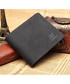 Black leather fold-over wallet Sale - woodland leathers Sale