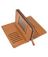 Tan leather zip-around wallet Sale - hautton Sale