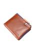 Tan leather & blue zip fold wallet Sale - hautton Sale