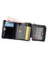 Black leather small foldover wallet Sale - hautton Sale