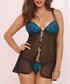 2pc Black & blue lace babydoll set Sale - seven til midnight Sale
