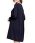 Navy mini swing dress Sale - peperuna Sale