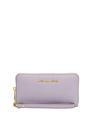 ed37244c1630 Jet Set lilac leather phone wristlet Sale - Michael Kors Sale