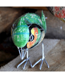 Greenfinch steel figure